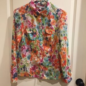 Old Navy Floral Print Blouse Shirt